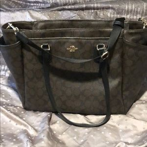 Coach leather large bag/diaper bag